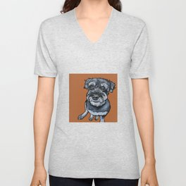 Frankie the Schnoodle Unisex V-Neck