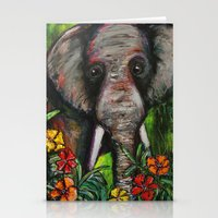 dumbo Stationery Cards featuring Dumbo by Megan Bailey Gill