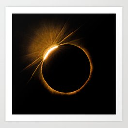 Solar Eclipse  8-21-17 Art Print