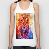 lions Tank Tops featuring Lions Wisdom by Richard Harper