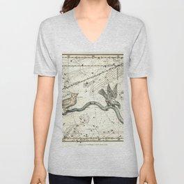 Corvus, Noctua, Hydra Constellations Plate 27, Alexander Jamieson Unisex V-Neck