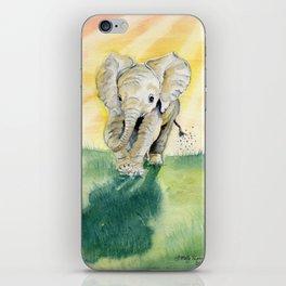 Colorful Baby Elephant iPhone Skin