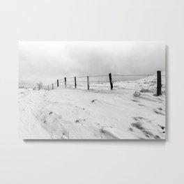Snow and wind Metal Print