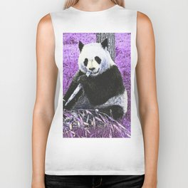 Funky lilac Panda Biker Tank