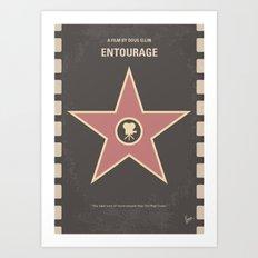 No525 My Entourage minimal movie poster Art Print