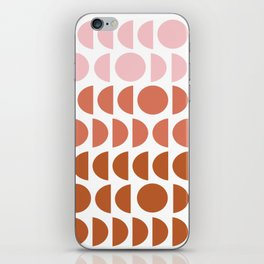 Terracotta and Blush Shapes iPhone Skin