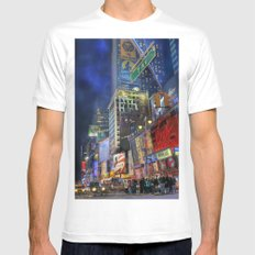 Times Square White MEDIUM Mens Fitted Tee
