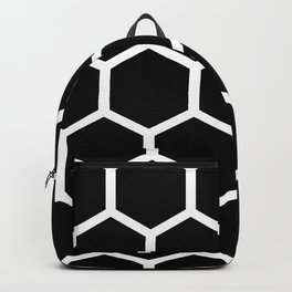 Honeycomb pattern - Black and White Backpack