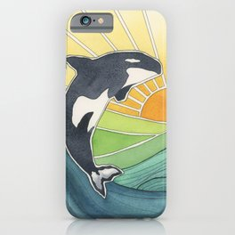 Westcoast Orca iPhone Case