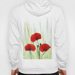Poppies red 008 Hoody