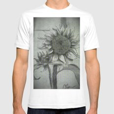 Sunflower Sketch DRPA151009a MEDIUM White Mens Fitted Tee