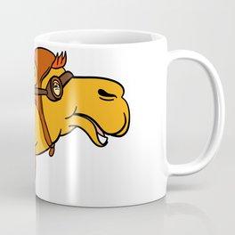 Aviator Camel Goggles Scarf Cartoon Coffee Mug