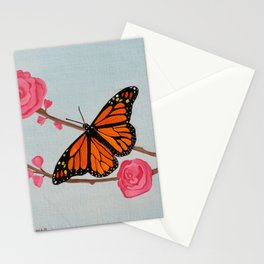 butterfly oil color painting, Art. Stationery Cards