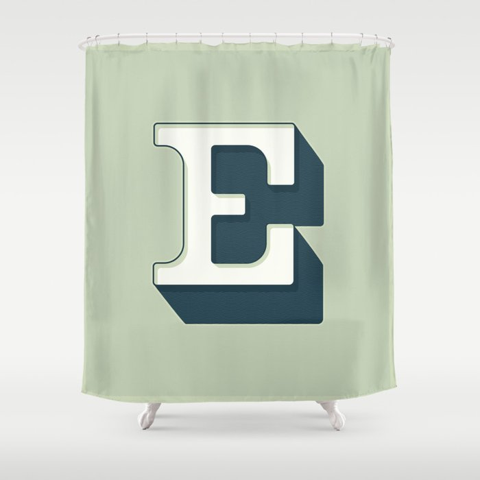 BOLD 'E' DROPCAP Shower Curtain