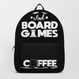 Board Games Addict Coffee Dog Lover Gift Backpack