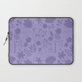 Hand painted ultraviolet modern floral illustration Laptop Sleeve