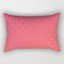 ombre stars large asterisks on red background Rectangular Pillow