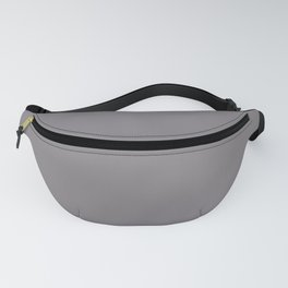 Color inspired by Valspar America Cinder Fox Light Purple Gray 4001-2B Solid Color Fanny Pack