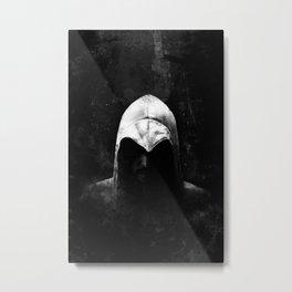Roman Assassin Hood - B&W Metal Print