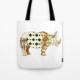 Tribal Rhino Tote Bag
