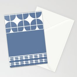 Decorative Cool Blue and White Pattern Design Stationery Cards