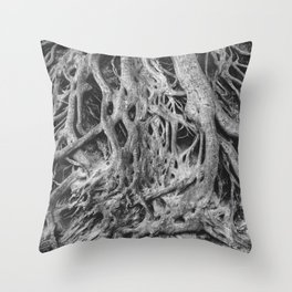 Roots of the Medusa Tree in Greenville, SC Throw Pillow