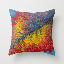 Vibrant Colors in an Autumn Leaf Throw Pillow