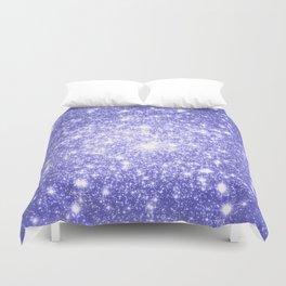 Lavender Periwinkle Sparkle Stars Duvet Cover