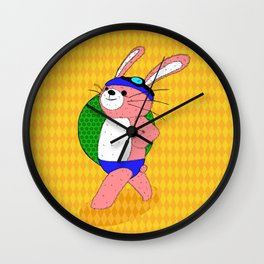 Let's Go To A Pool (bunny) Wall Clock
