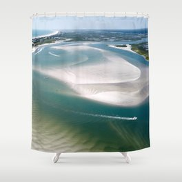 Rich's Inlet at the North End of Figure 8 Island | Wilmington NC Shower Curtain