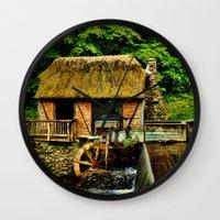selena gomez Wall Clocks featuring Gomez Mill by PamelasDreams