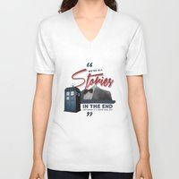 doctor who V-neck T-shirts featuring Doctor Who  by thatfandomshop