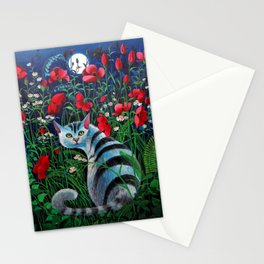The Cat and the Moon (02) Stationery Cards
