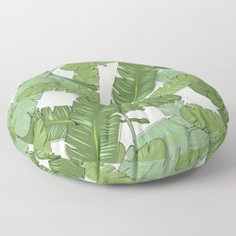 Banana Leaf Print Floor Pillow