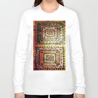 quilt Long Sleeve T-shirts featuring Ancient Quilt by Robin Curtiss