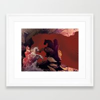 heroes Framed Art Prints featuring Heroes by infloence
