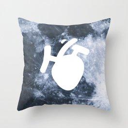 Moony Heart Throw Pillow