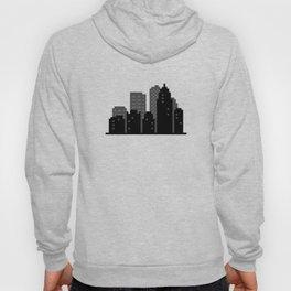 Pixel City Skyline - VERSION TWO - NO SKY Hoody
