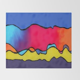 CALIFORNIA WAVE Throw Blanket