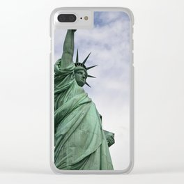 Lady of Freedom Clear iPhone Case