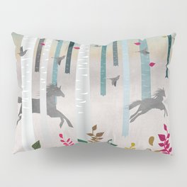 Flying Horses Pillow Sham