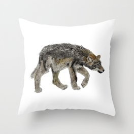 Wolf cub - Louveteau - Lobezno - Lobacho Throw Pillow