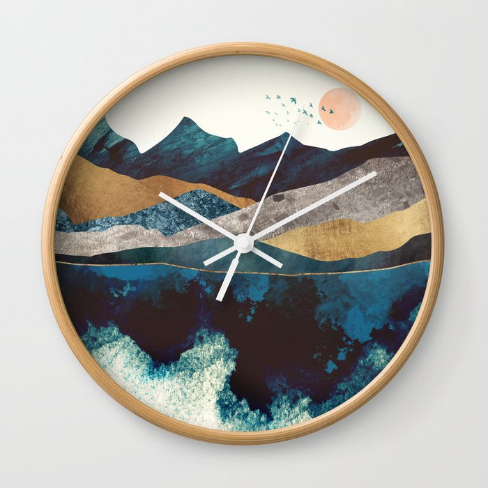 Blue Mountain Reflection Wall Clock