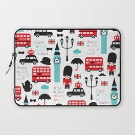 London icons illustration pattern print Laptop Sleeve