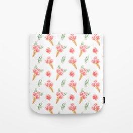 Floral Cones Pattern Tote Bag