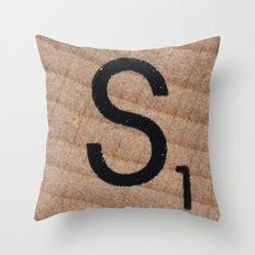 Tile S Throw Pillow