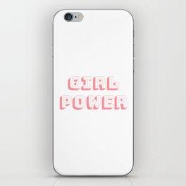 Girl Power Pink Feminism iPhone Skin