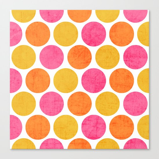 summer polka dots Canvas Print