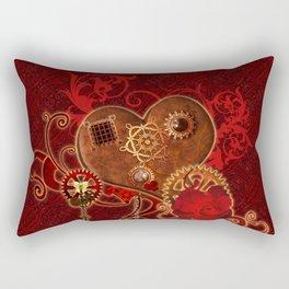 Steampunk, wonderful heart Rectangular Pillow