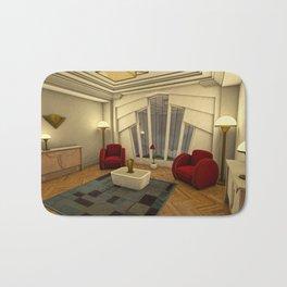 Classic Art Deco Living Room Bath Mat